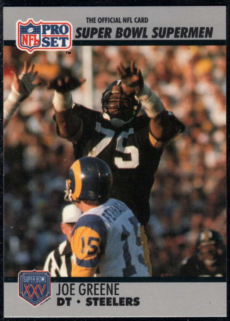 1990-91 Pro Set Super Bowl 160 #84 Joe Greene NM-MT+