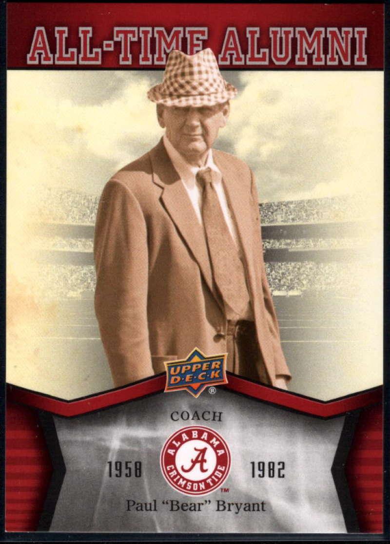 2012 Upper Deck University of Alabama All Time Alumni #ATAPB Paul Bear Bryant NM-MT+