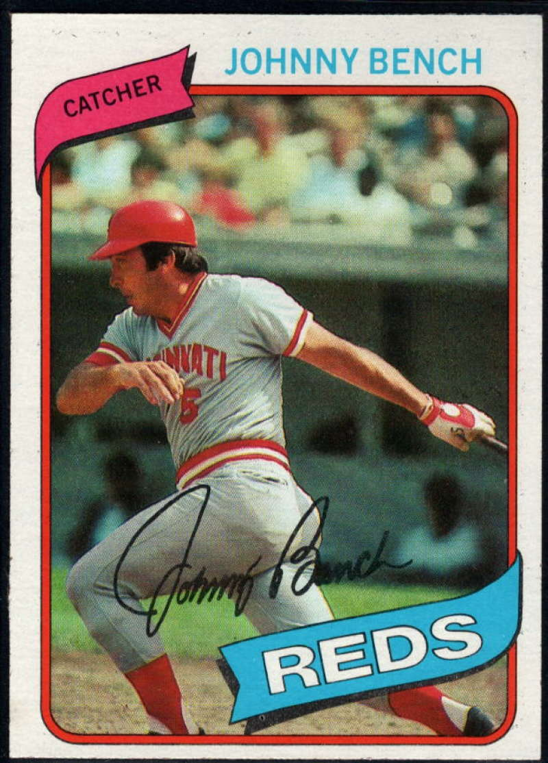 1980 Topps #100 Johnny Bench NM Near Mint