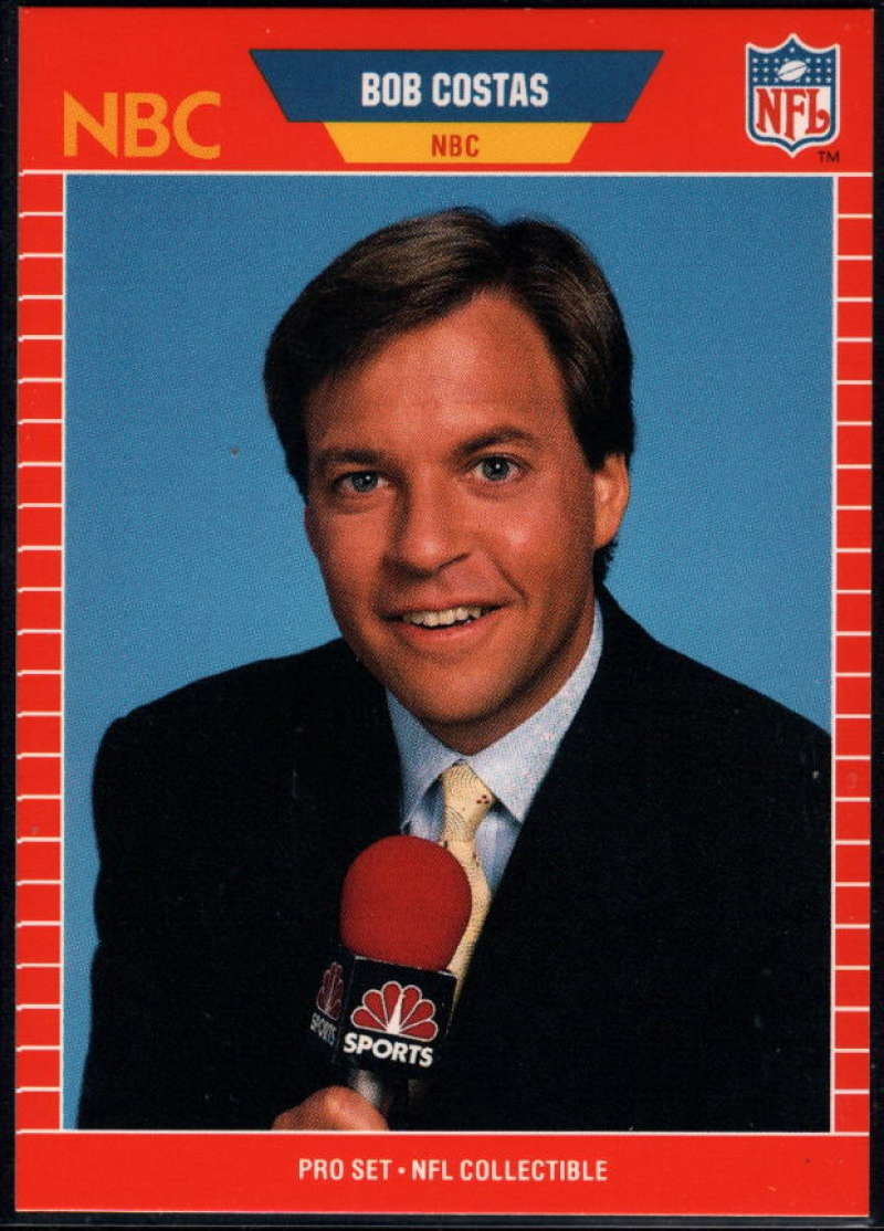 1989 Pro Set Announcers Football Pick A Player Ebay