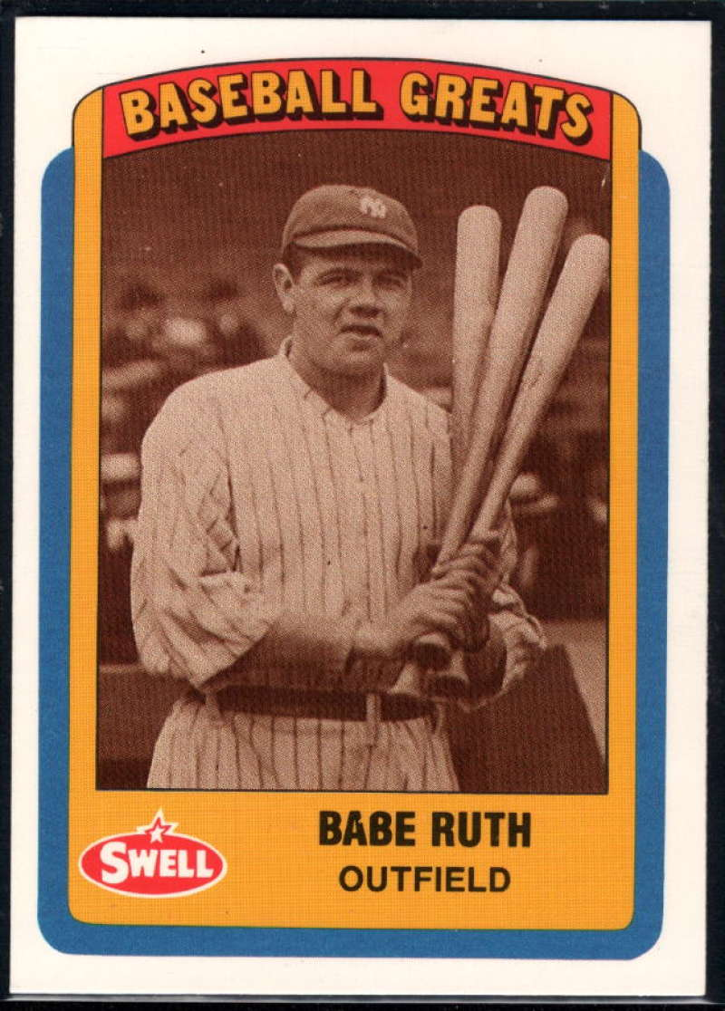 1990 Swell Greats #10 Babe Ruth NM Near Mint