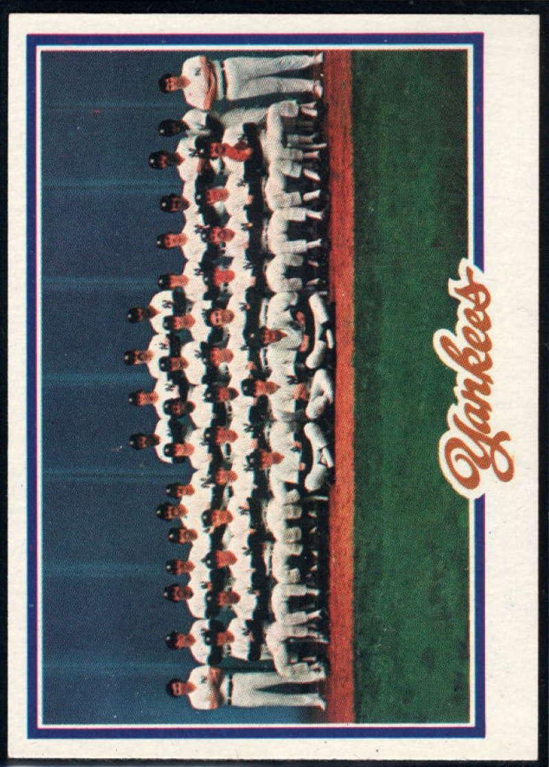 1978 Topps #282 Yankees Team NM Near Mint