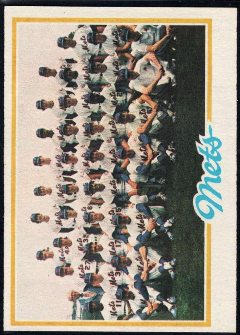 1978 Topps #356 Mets Team NM Near Mint