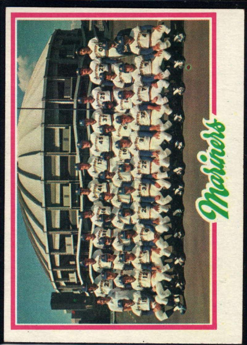 1978 Topps #499 Mariners Team NM Near Mint