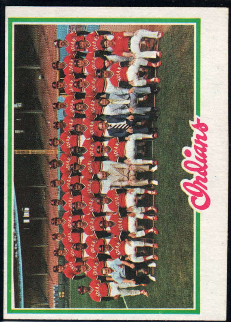 1978 Topps #689 Indians Team NM Near Mint