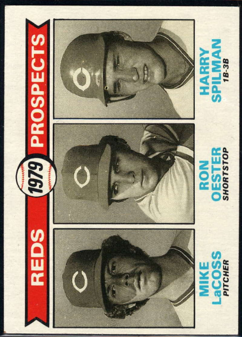 1979 Topps #717 Mike LaCoss/Ron Oester/Harry Spilman Reds Prospects NM Near Mint RC