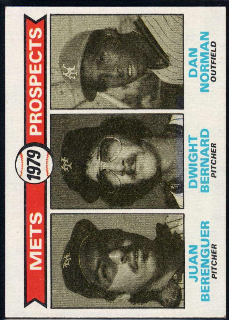1979 Topps #721 Juan Berenger/Dwight Bernard/Dan Norman Mets Prospects NM Near Mint RC