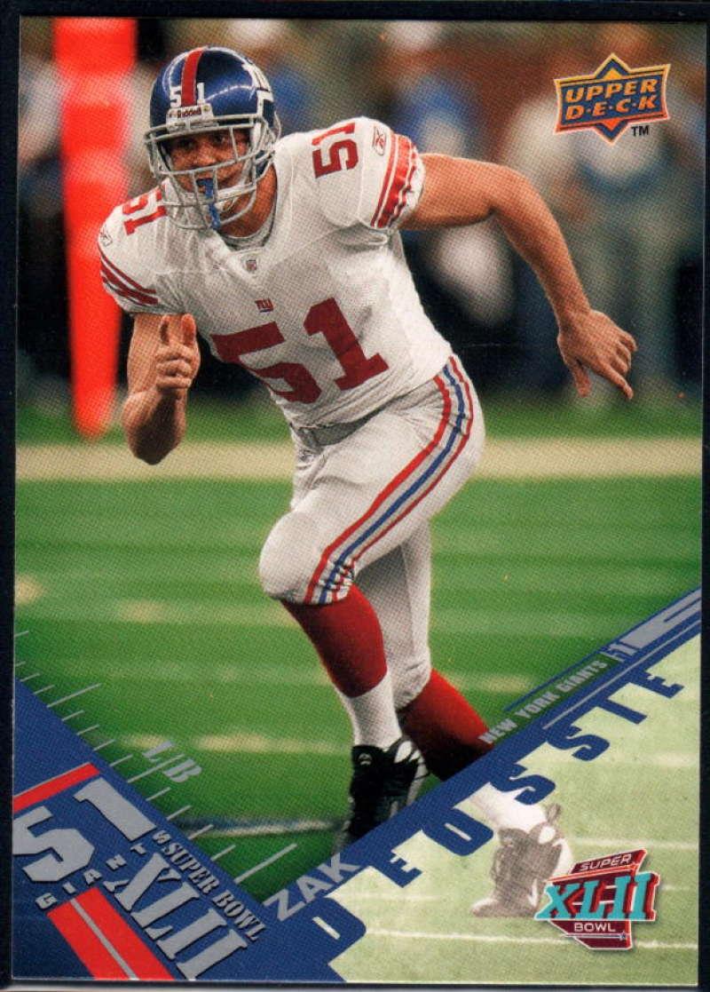 2008 Upper Deck Super Bowl XLII #36 Zak DeOssie NM-MT+
