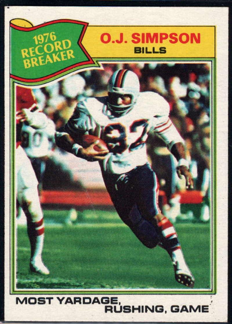 1977 Topps #453 O.J. Simpson RB NM Near Mint