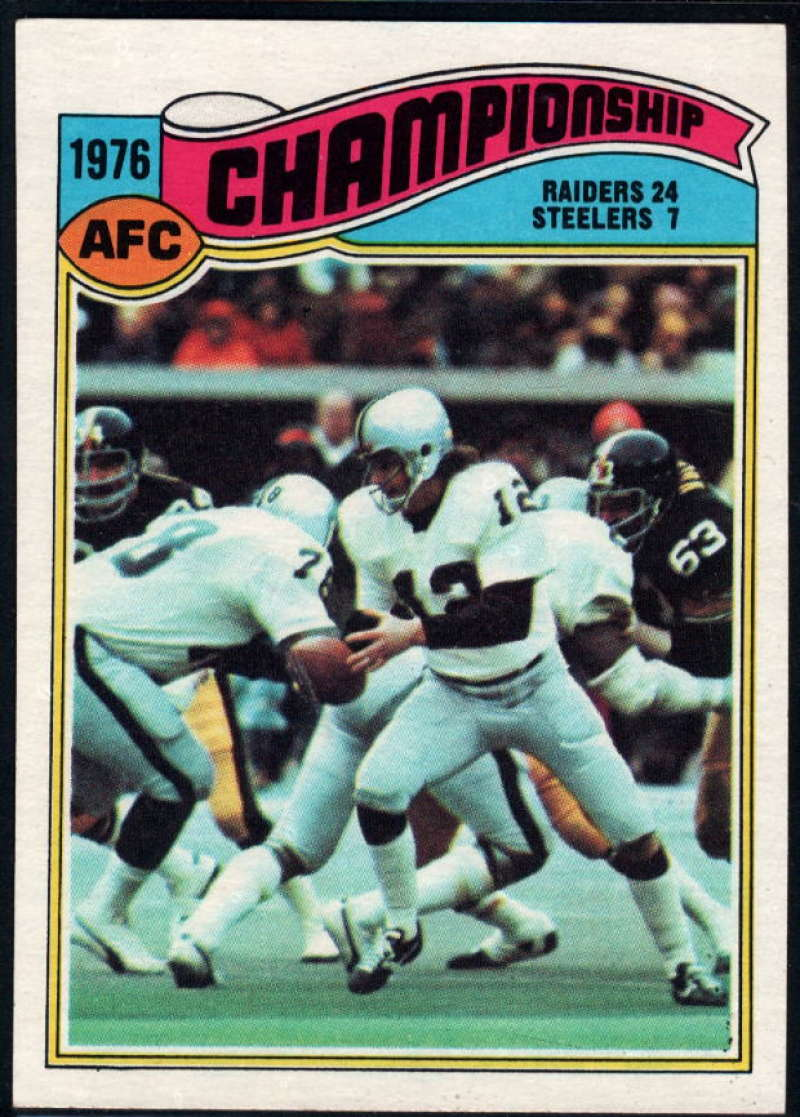 1977 Topps #526 1976 AFC Championship NM Near Mint