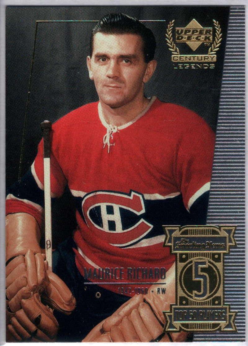 1999-00 Upper Deck Century Legends #5 Maurice Richard NM-MT+