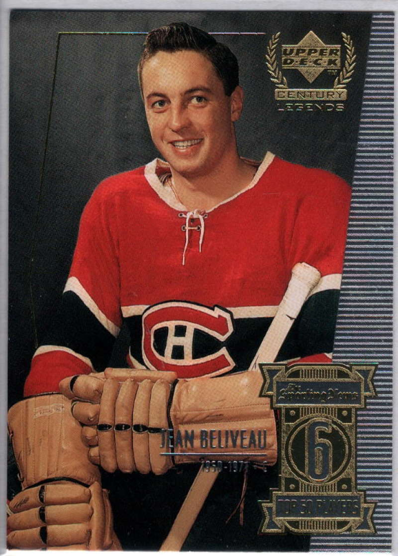 1999-00 Upper Deck Century Legends #6 Jean Beliveau NM-MT+
