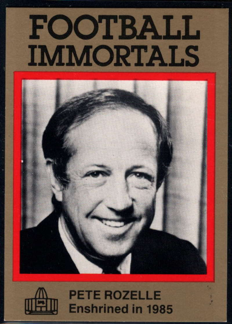 1985-88 Football Immortals #1 Pete Rozelle NM Near Mint