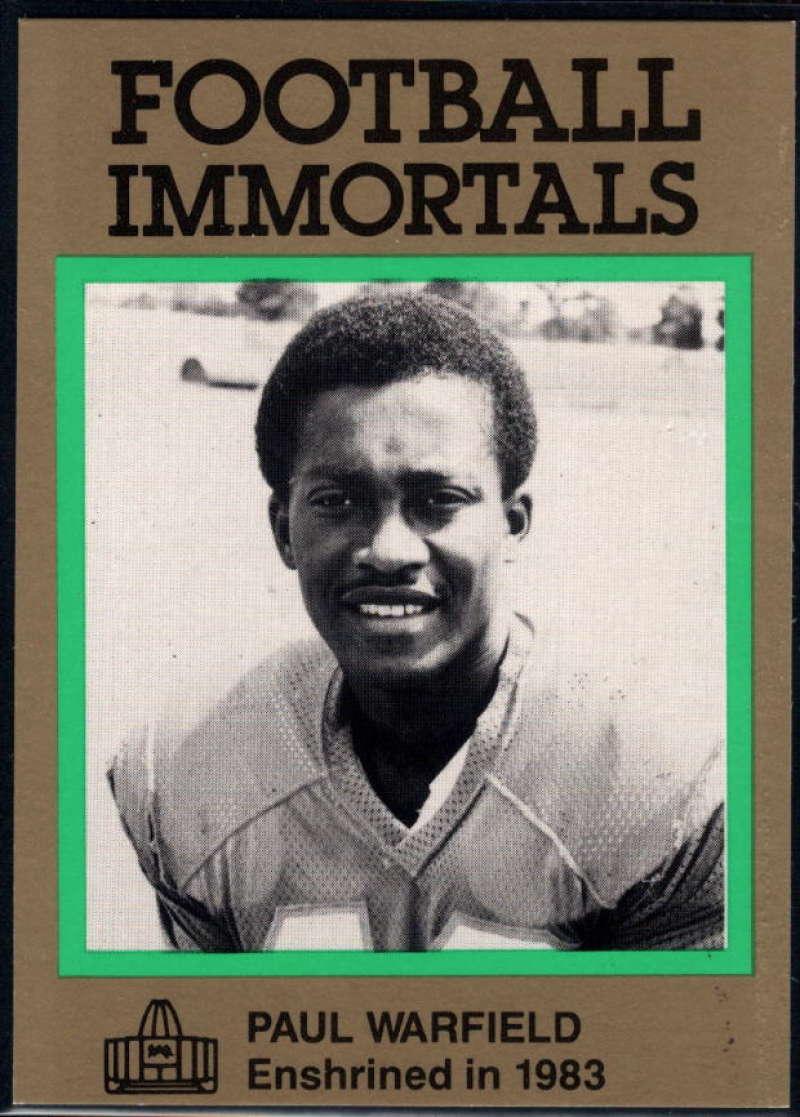 1985-88 Football Immortals #123 Paul Warfield NM Near Mint