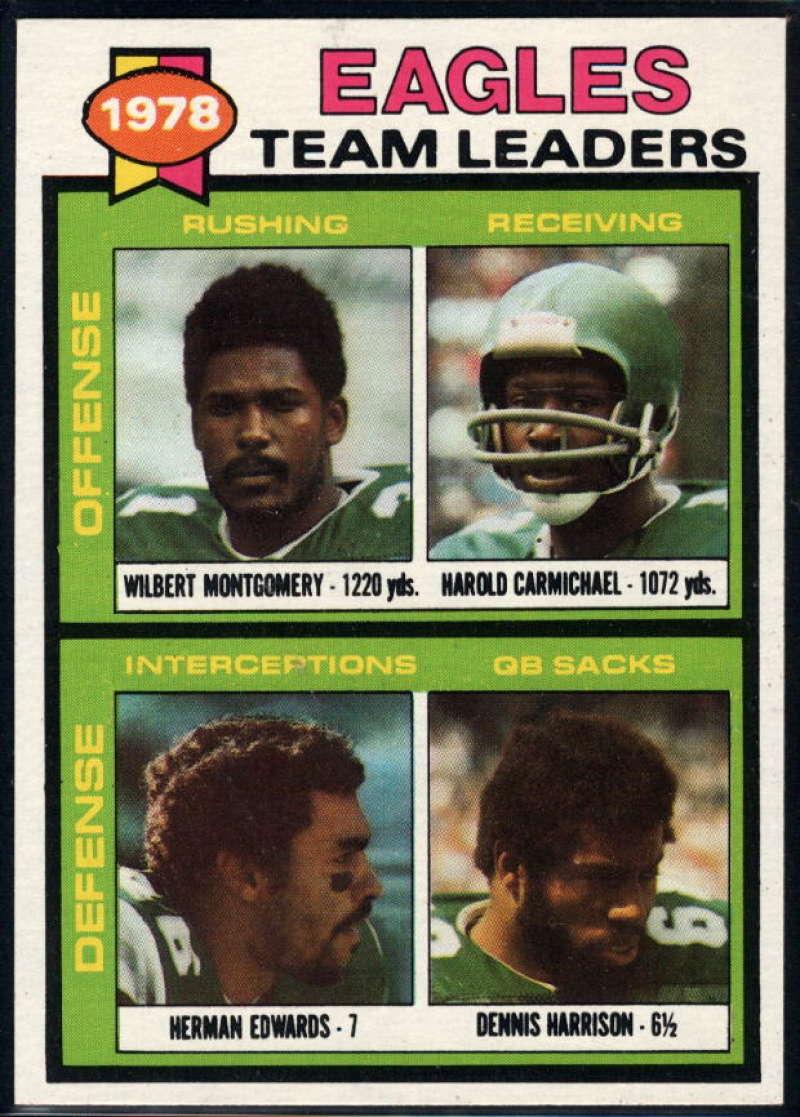 1979 Topps #151 Wilbert Montgomery/Harold Carmichael/Herman Edwards/Dennis Harrison TL NM Near Mint Philadelphia Eagles