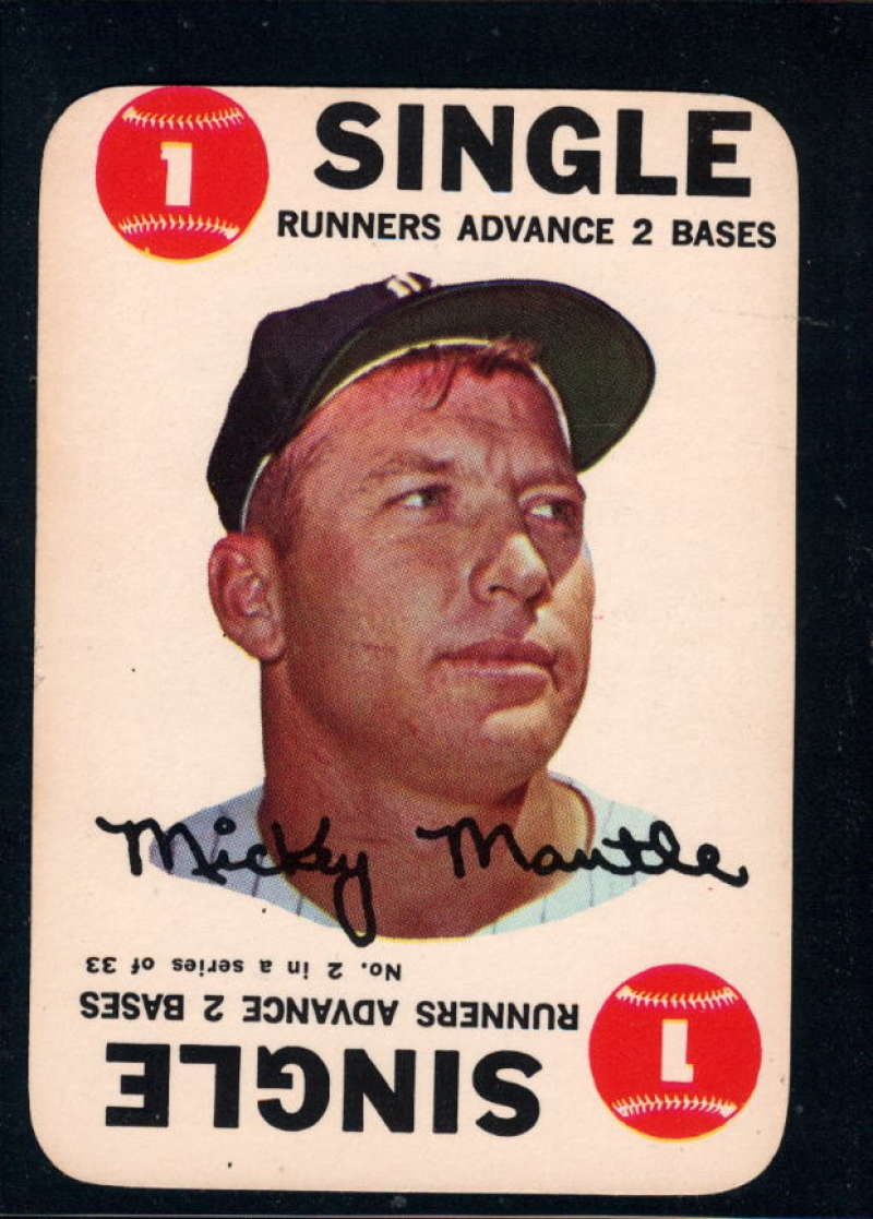 1968 Topps Game #2 Mickey Mantle NM Near Mint New York Yankees