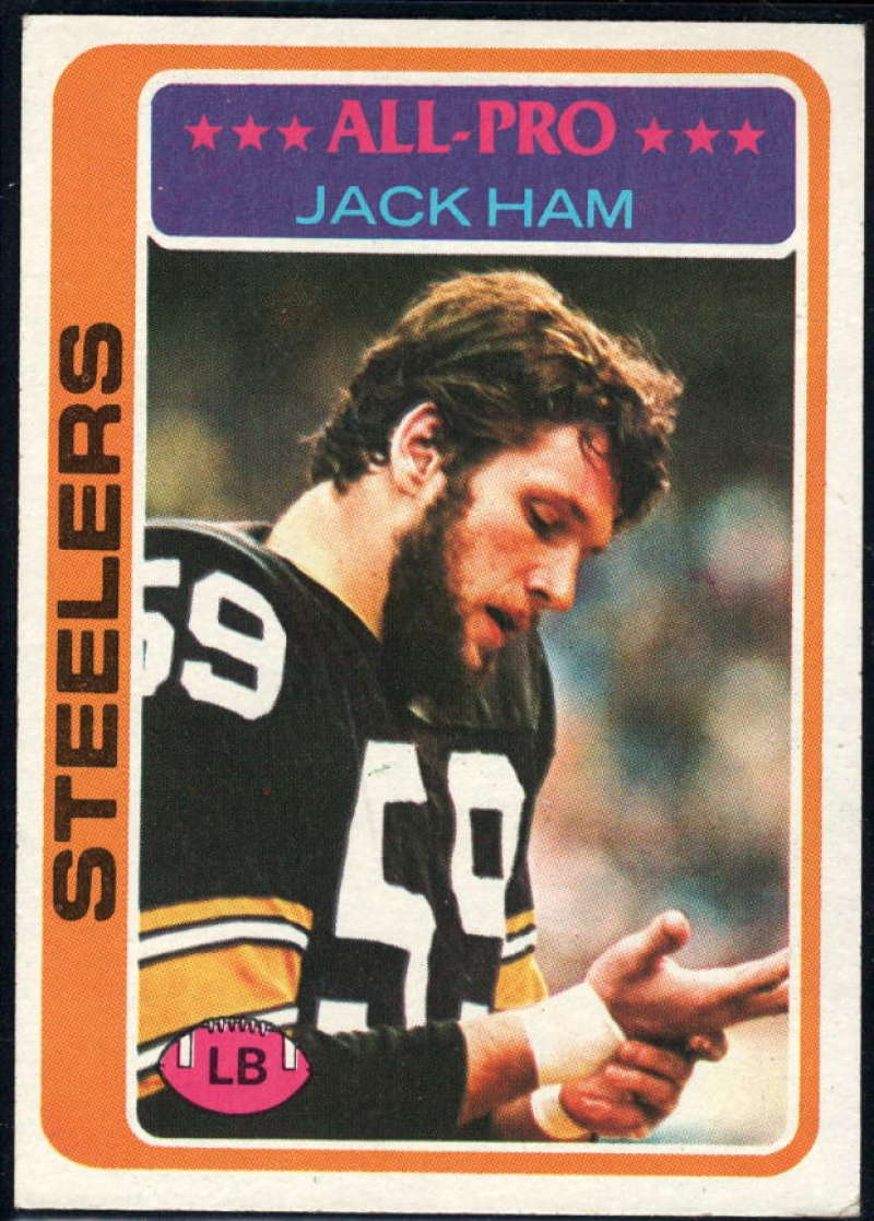 1978 Topps #450 Jack Ham NM Near Mint Pittsburgh Steelers