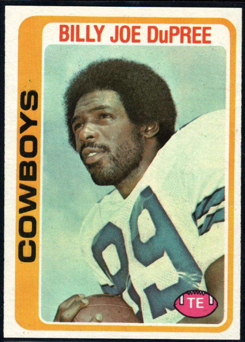 1978 Topps #470 Billy Joe DuPree NM Near Mint Dallas Cowboys