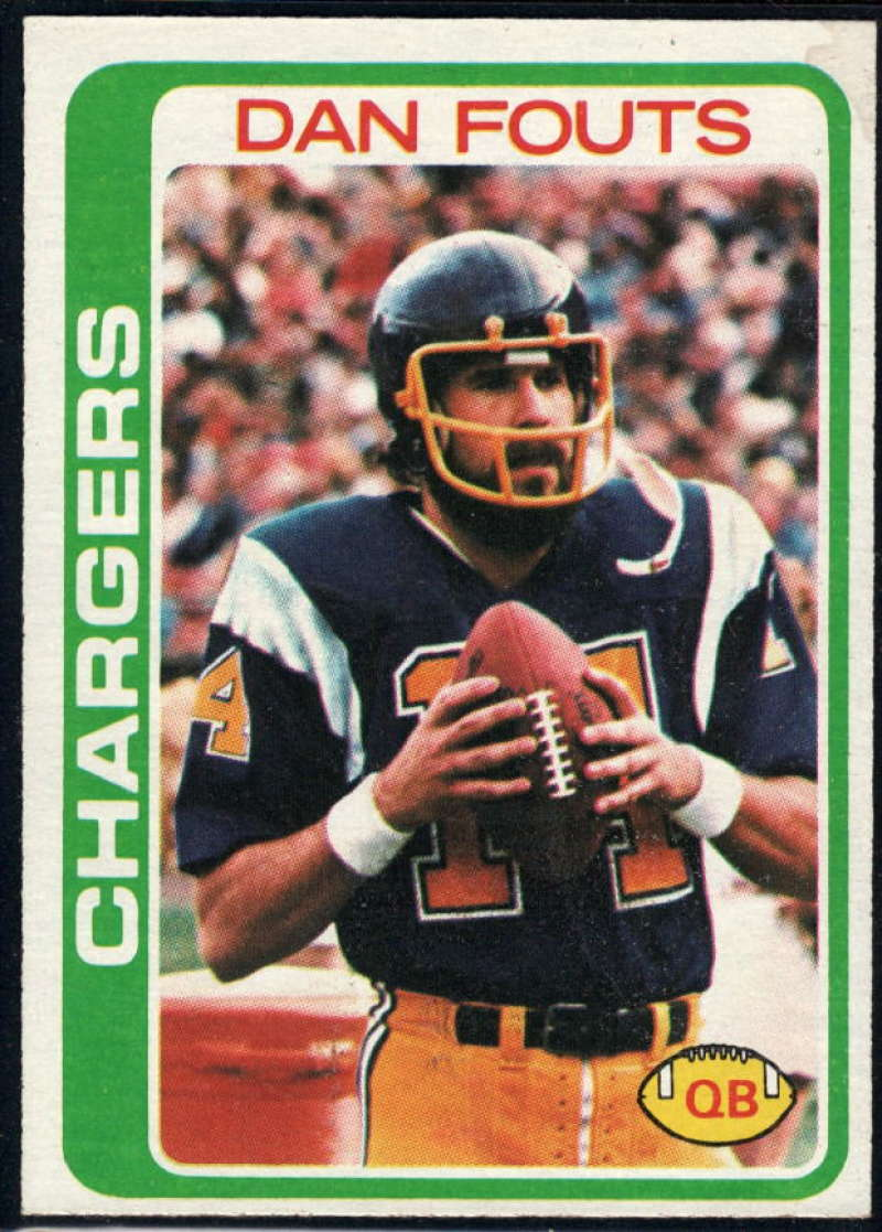 1978 Topps #499 Dan Fouts NM Near Mint San Diego Chargers