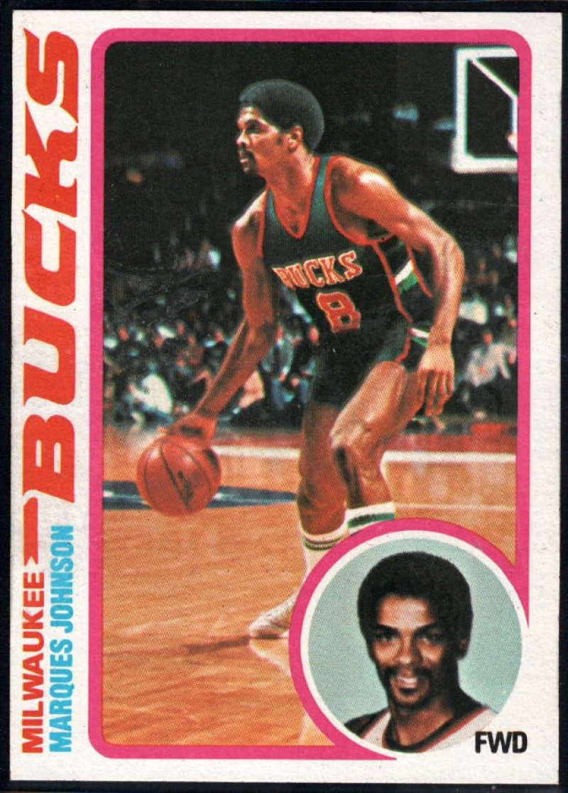 1978-79 Topps #126 Marques Johnson NM Near Mint RC Milwaukee Bucks