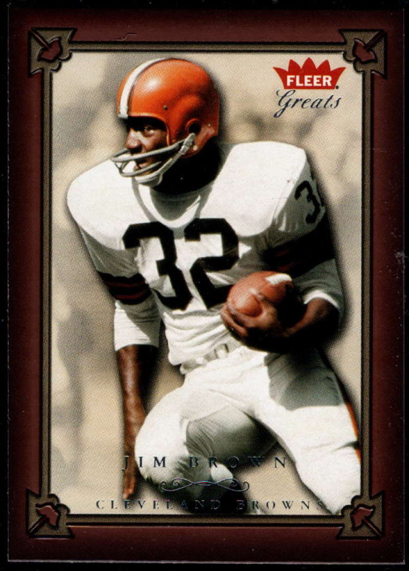 2004 Fleer Greats of the Game #1 Jim Brown NM-MT+ Cleveland Browns