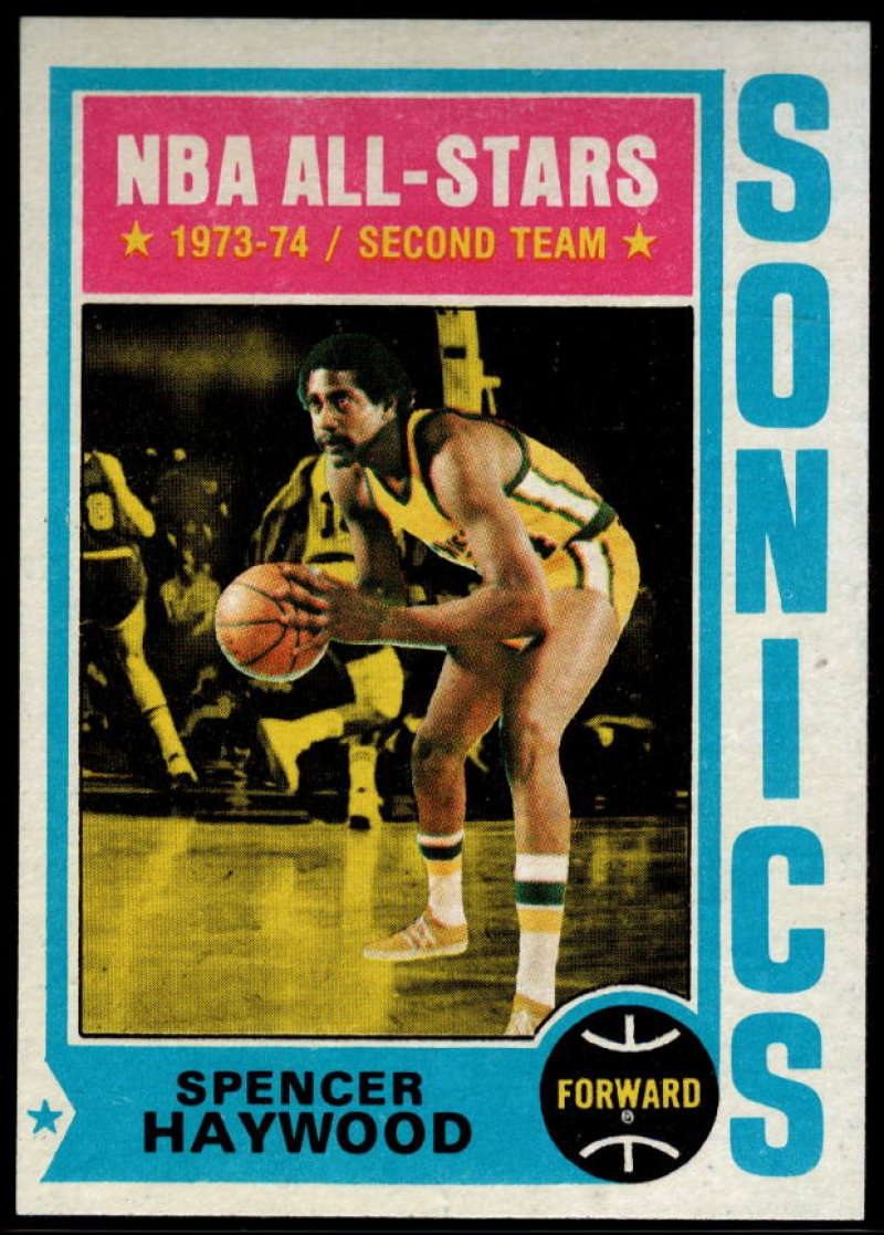 1974-75 Topps #70 Spencer Haywood EX/NM Seattle SuperSonics