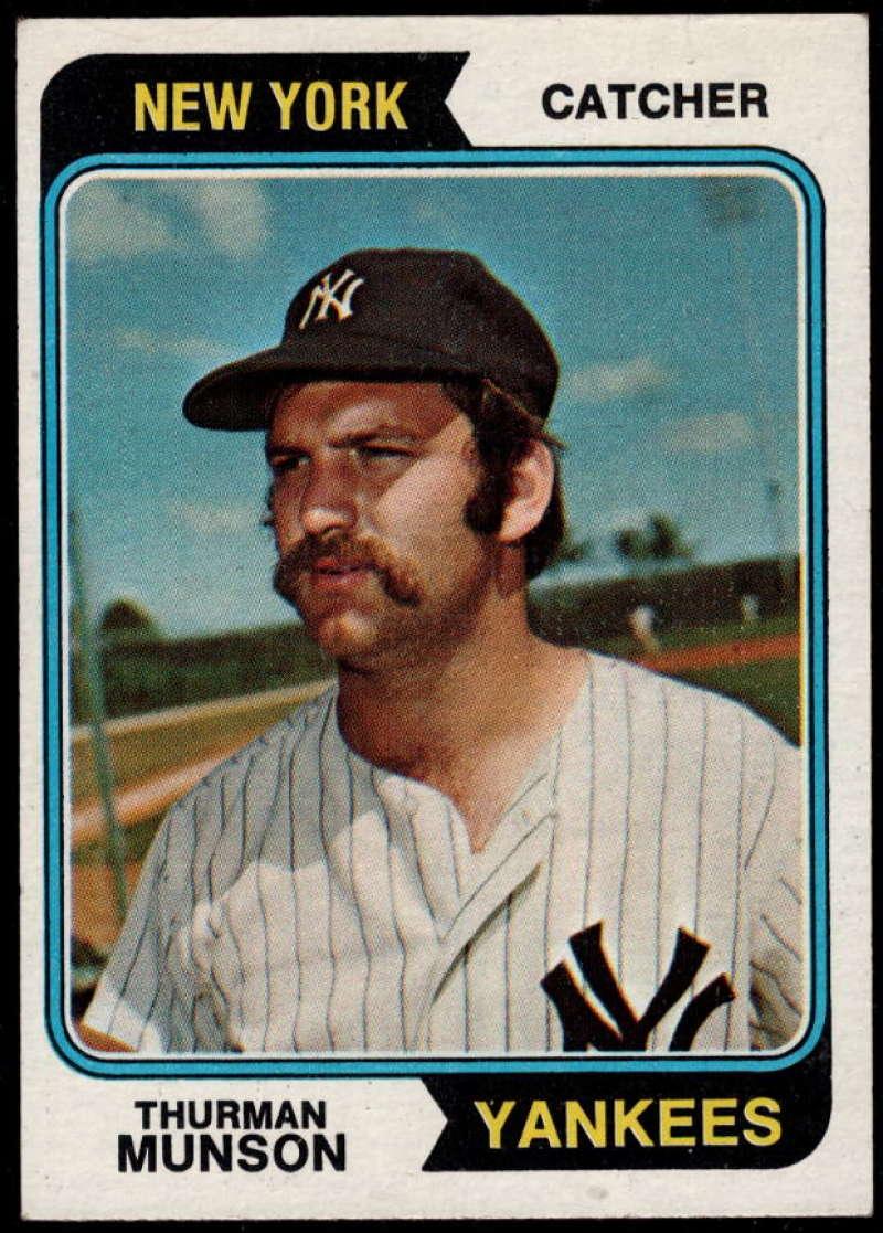 1974 Topps #340 Thurman Munson EX/NM New York Yankees