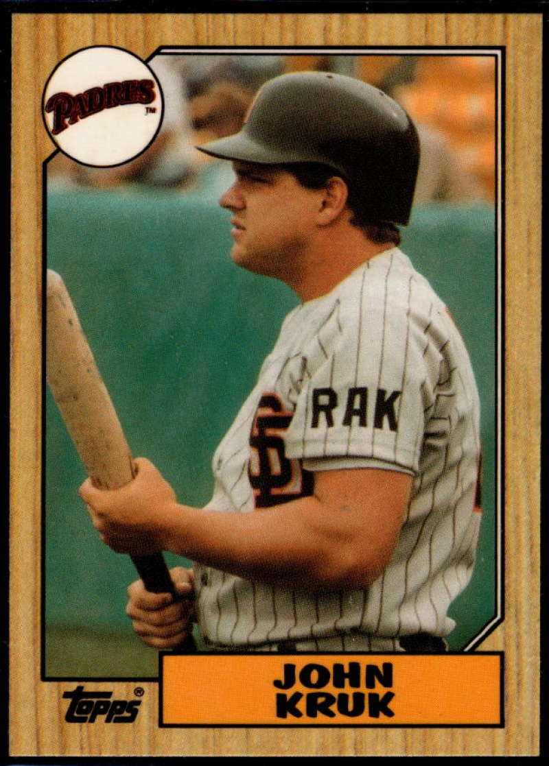 1987 Topps Tiffany #123 John Kruk NM Near Mint San Diego Padres