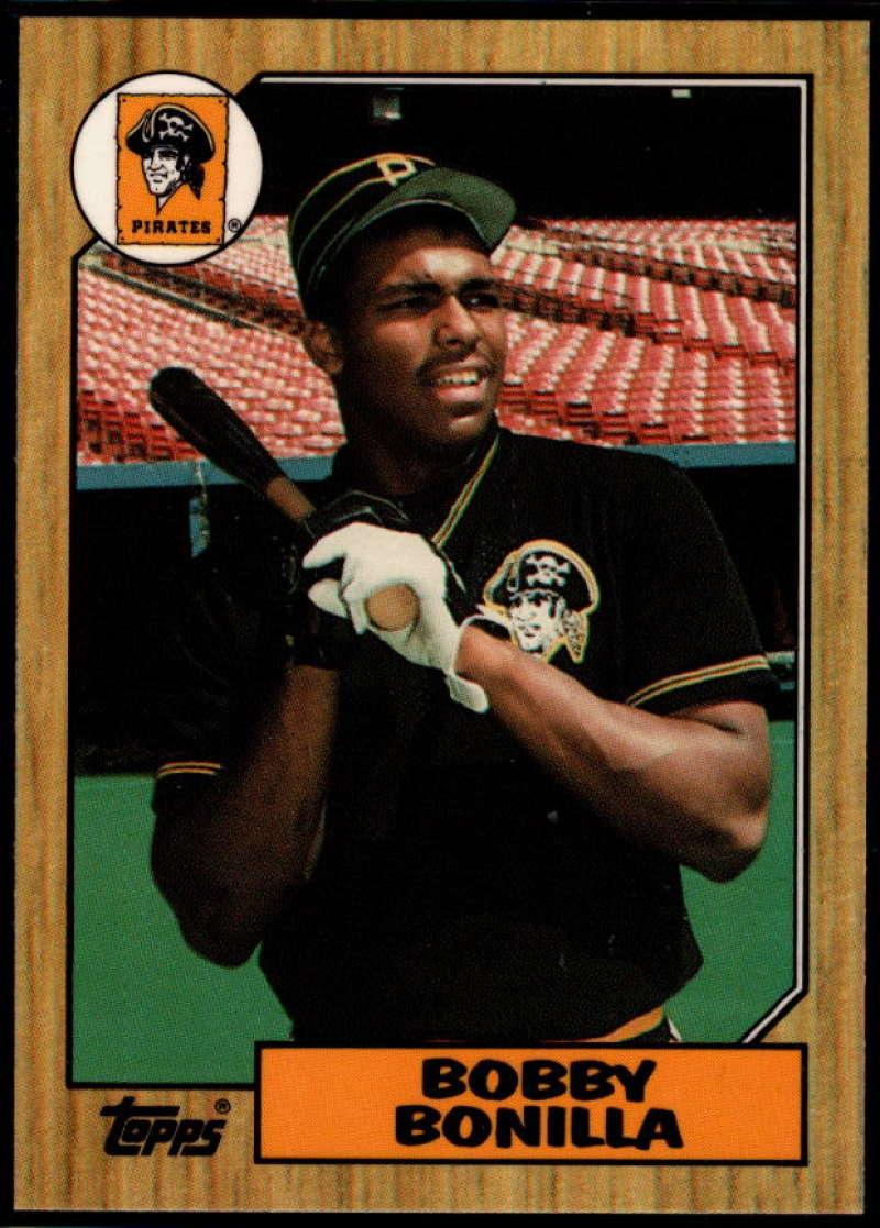 1987 Topps Tiffany #184 Bobby Bonilla NM Near Mint Pittsburgh Pirates