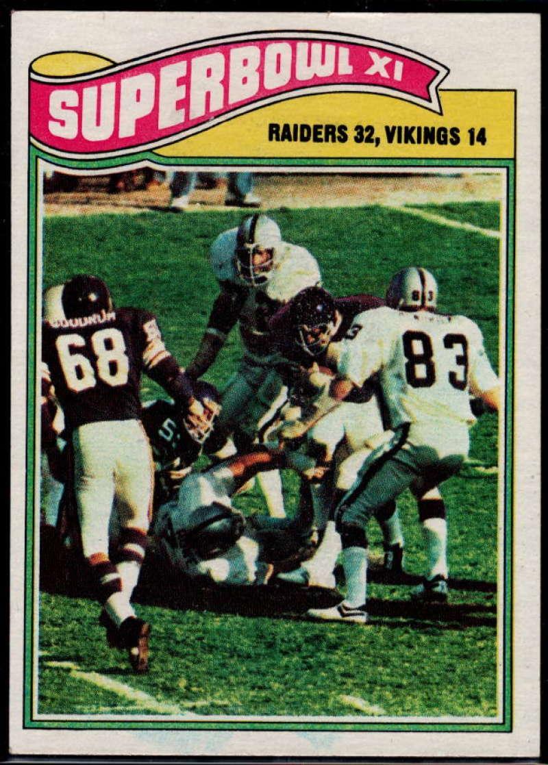 1977 Topps #528 Super Bowl XI NM Near Mint Oakland Raiders/Minnesota Vikings