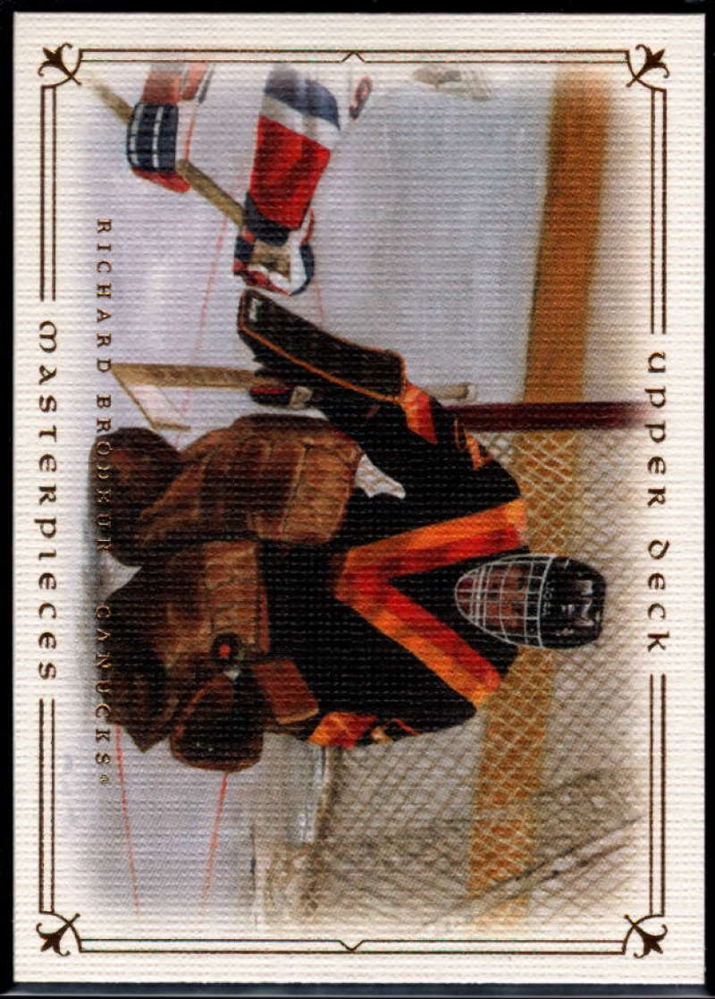 2008-09 Upper Deck Masterpieces #9 Richard Brodeur NM-MT+ Vancouver Canucks