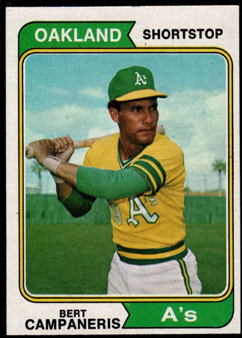 1974 Topps #155 Bert Campaneris EX/NM Oakland Athletics