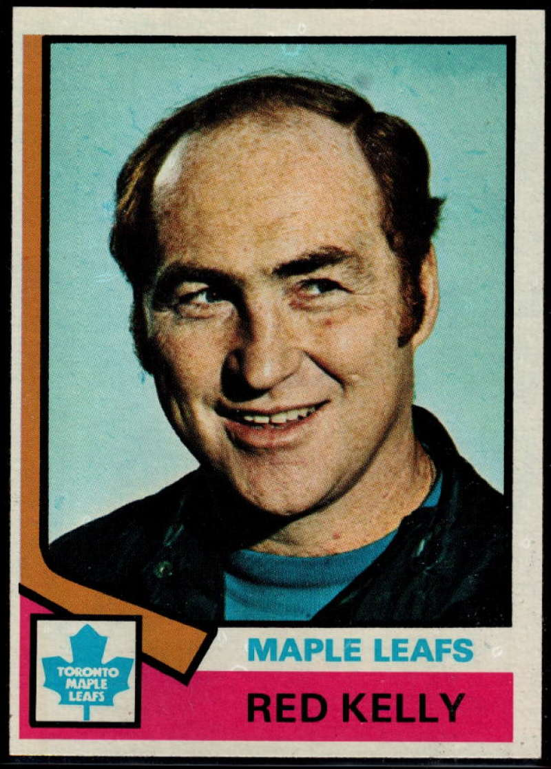 1974-75 Topps #76 Red Kelly CO NM Near Mint Toronto Maple Leafs