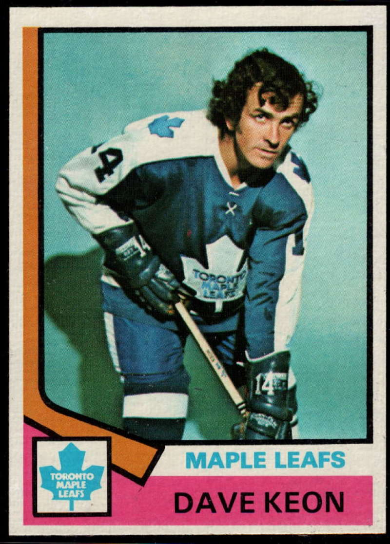 1974-75 Topps #151 Dave Keon NM Near Mint Toronto Maple Leafs