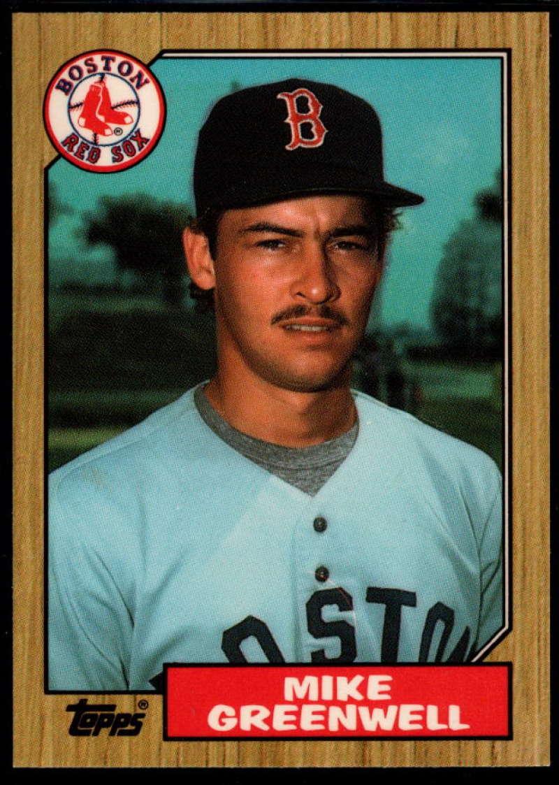 1987 Topps Tiffany #259 Mike Greenwell NM Near Mint Boston Red Sox