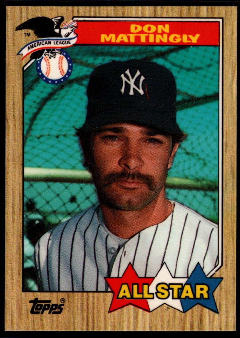 1987 Topps Tiffany #606 Don Mattingly NM Near Mint New York Yankees