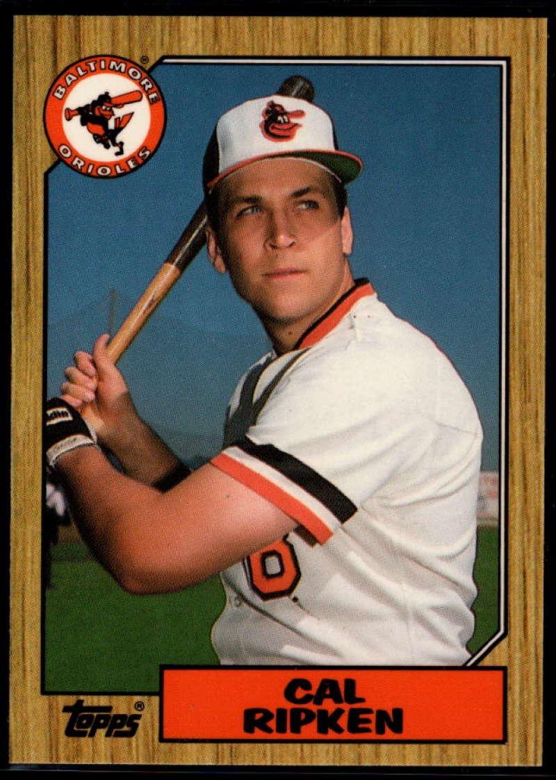 1987 Topps Tiffany #784 Cal Ripken Jr. NM Near Mint Baltimore Orioles