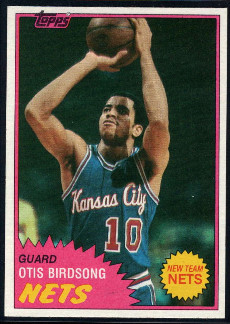 1981-82 Topps #17 Otis Birdsong NM-MT New Jersey Nets