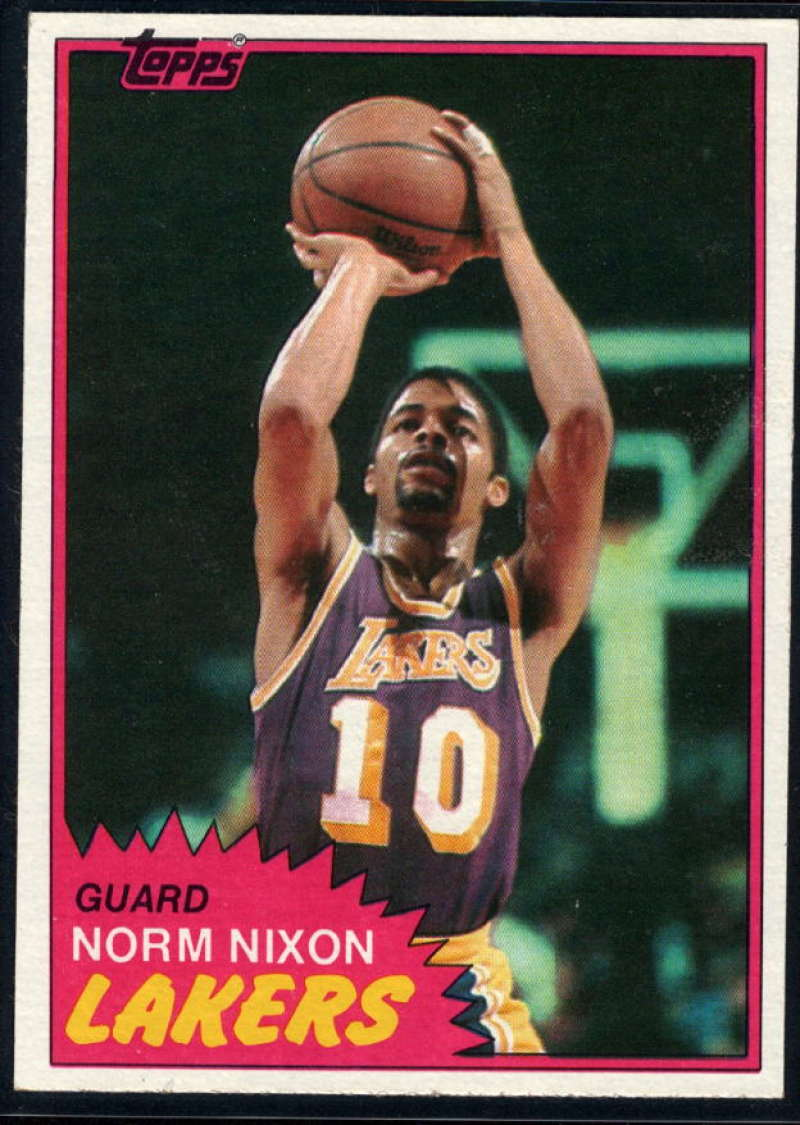 1981-82 Topps #22 Norm Nixon NM-MT Los Angeles Lakers