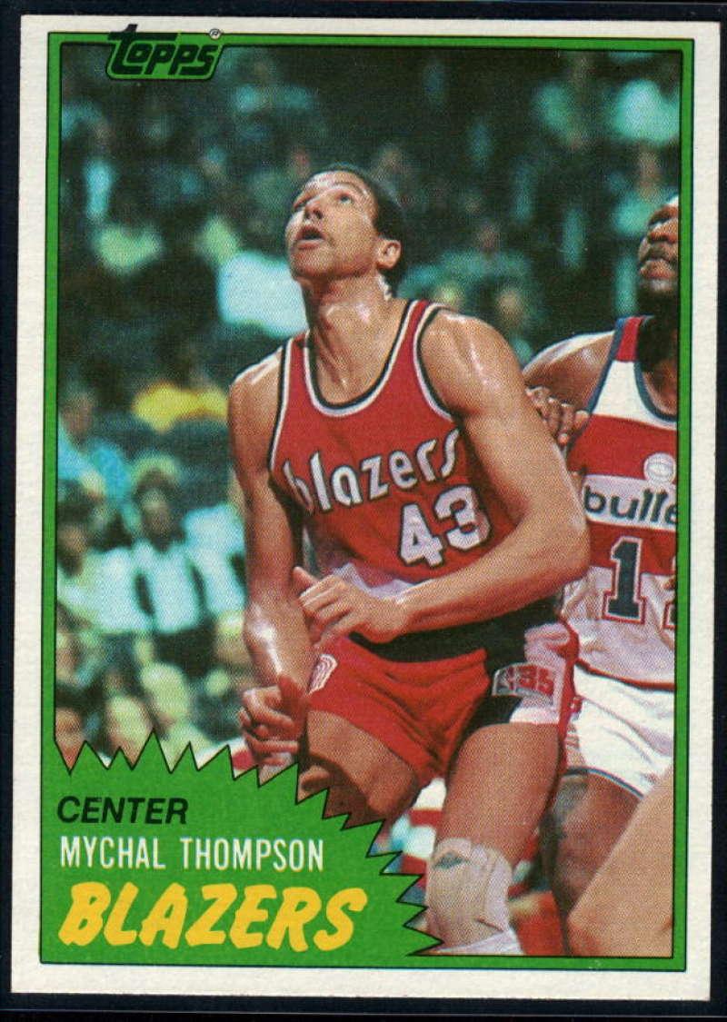 1981-82 Topps #36 Mychal Thompson NM-MT Portland Trail Blazers