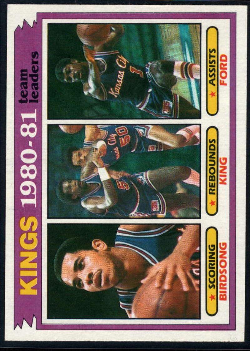 1981-82 Topps #54 Otis Birdsong/Reggie King/Phil Ford TL NM-MT Kansas City Kings