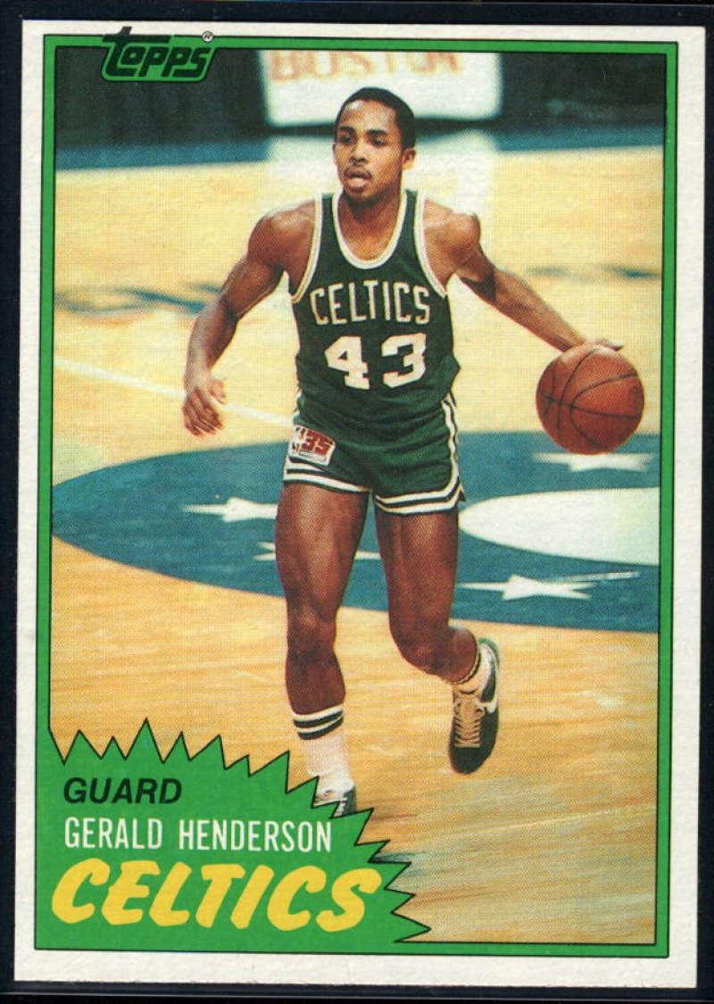1981-82 Topps #E74 Gerald Henderson NM-MT RC Boston Celtics
