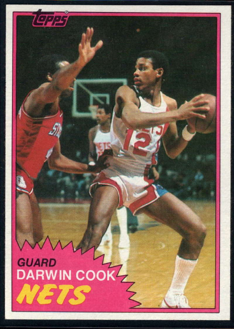 1981-82 Topps #E77 Darwin Cook NM-MT RC New Jersey Nets