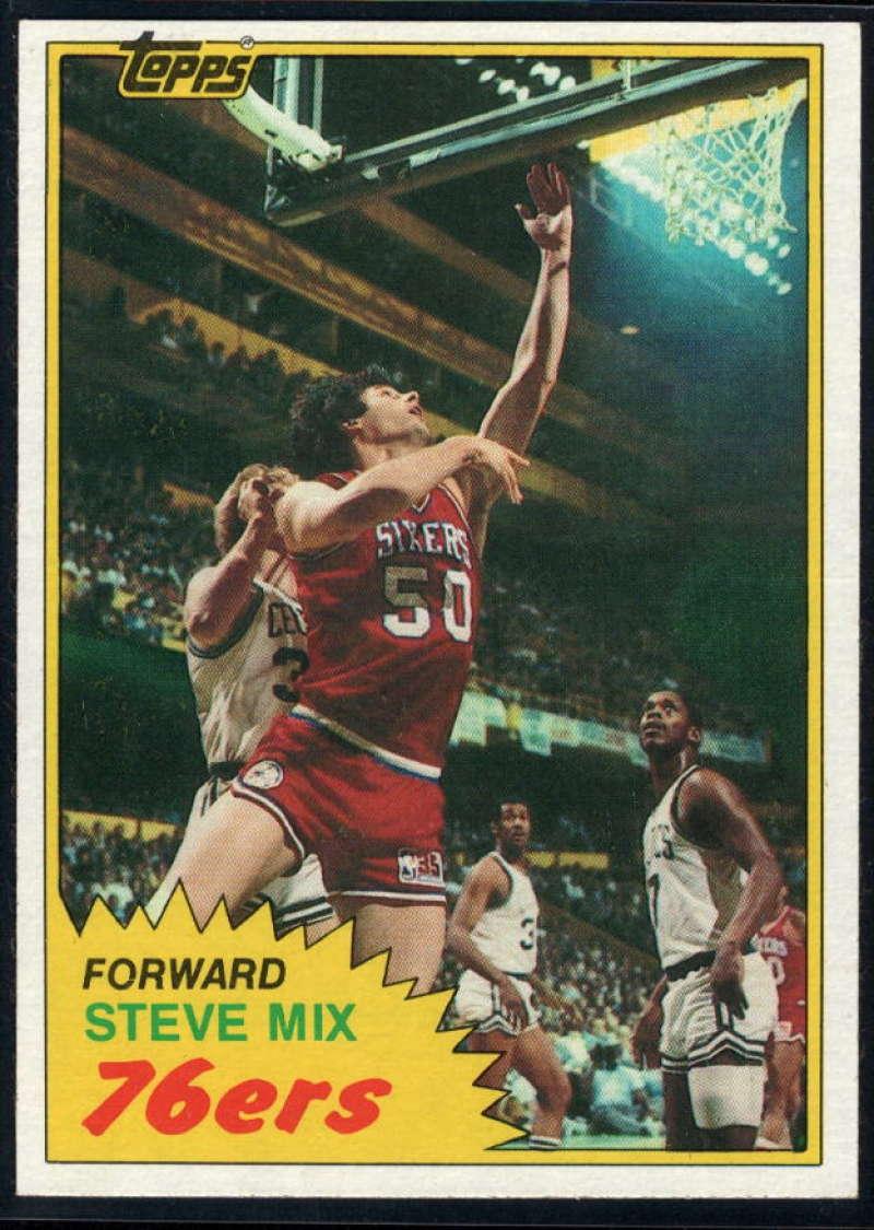 1981-82 Topps #E92 Steve Mix NM-MT Philadelphia 76ers