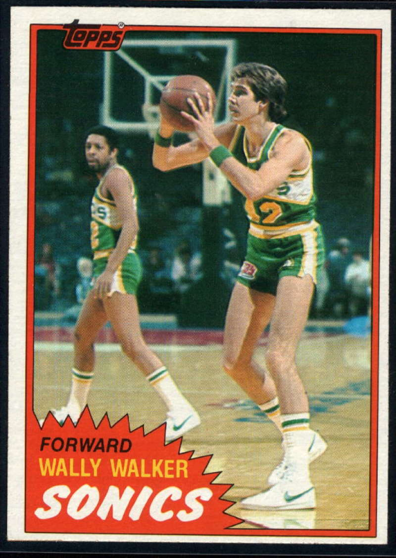1981-82 Topps #W100 Wally Walker NM-MT RC Seattle SuperSonics