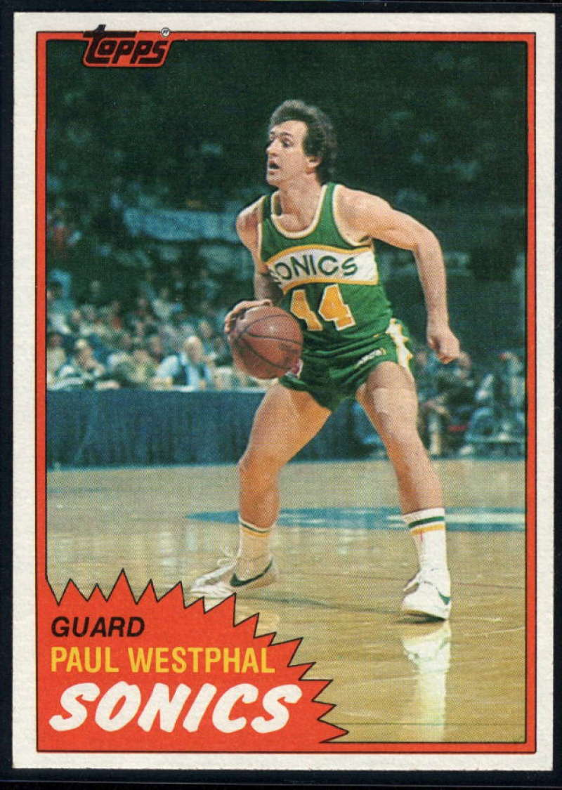 1981-82 Topps #W101 Paul Westphal NM-MT Seattle SuperSonics