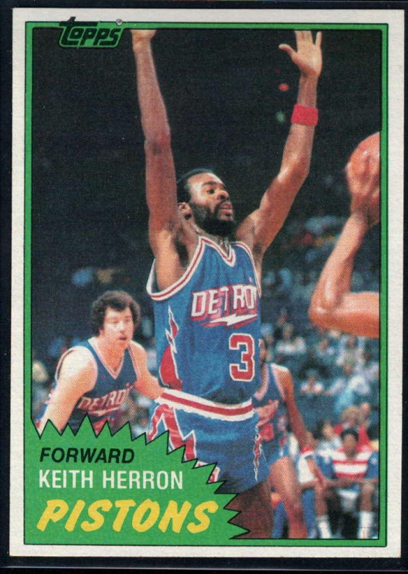 1981-82 Topps #MW81 Keith Herron NM-MT Detroit Pistons