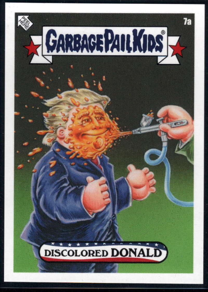 2020 Topps Garbage Pail Kids disg-Race to the White House #7A Discolored DONALD NM-MT+