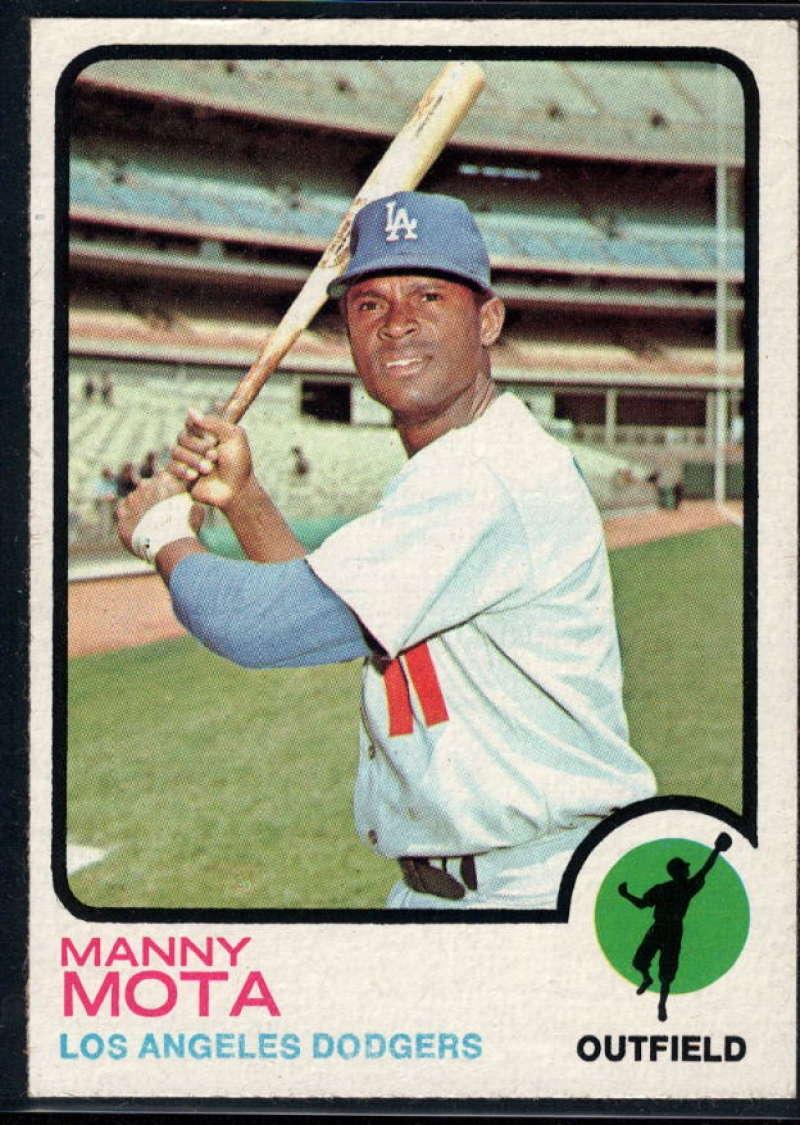 1973 Topps #412 Manny Mota EX/NM Los Angeles Dodgers
