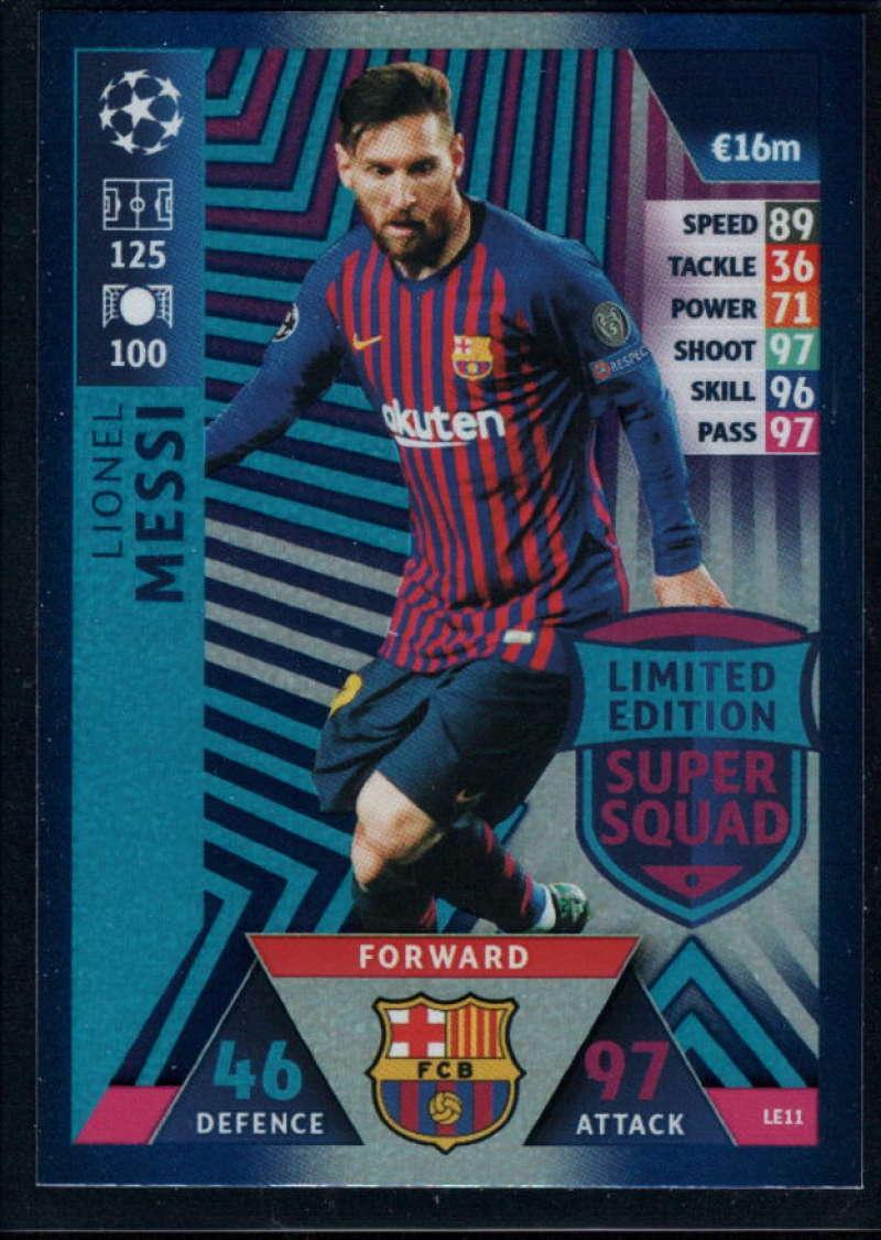 2018-19 Topps UEFA Champions League Match Attax Limited Edition Super Squad #LE11 Lionel Messi NM-MT+ FC Barcelona